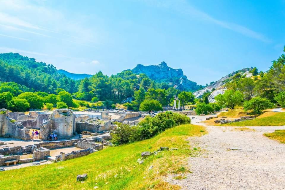 Glanum, archeological site, ancient city in saint rémy de provence