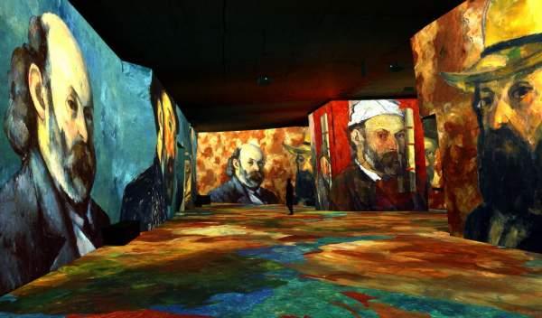 le peintre cézanne aux carrières de lumière, baux de provence