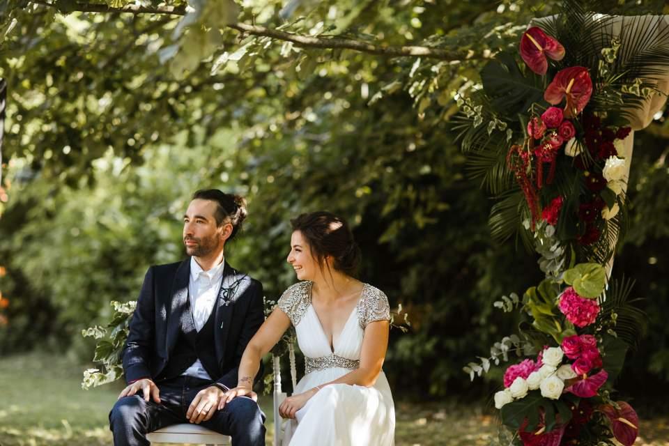 wedding in chateau de roussan